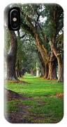 Avenue Of The Oaks On St Simons Island Ga IPhone Case