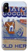 Aviator Goggle Sold Here Poster IPhone Case