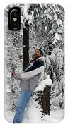 Awestruck By The Beauty Of Snow IPhone Case