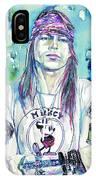 Axl Rose Portrait.1 IPhone Case