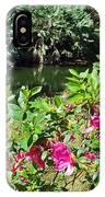 Azaleas By The Pond IPhone Case