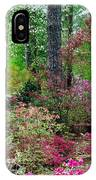 Azaleas Red Maple And Magnolia Trees IPhone Case