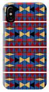 Aztec Blue Pattern IPhone Case