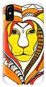 Golden Aztec Lion IPhone Case