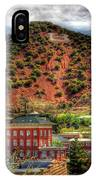 B Hill Over Historic Bisbee IPhone Case