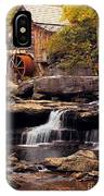 Babcock Grist Mill And Falls IPhone Case