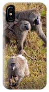 Baboon Family IPhone Case