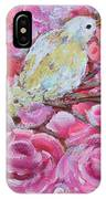 Baby Dove Of Peace Pink Flowers IPhone Case