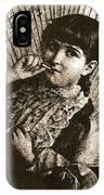 Baby Face Homage 1933 Sepia Variation 2 Virginia City Montana 1971 IPhone Case
