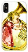 Baby Girl With A French Horn IPhone Case