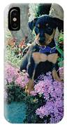 Baby Min Pin In The Phlox IPhone Case