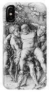 Bacchanal With Silenus - Albrecht Durer IPhone Case