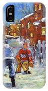 Back Lane Hockey Shoot Out By Prankearts IPhone Case