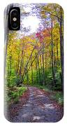 Back Road In The Adirondacks IPhone Case