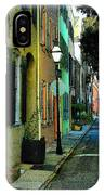 Back Street In Charleston IPhone Case
