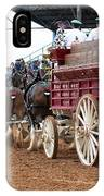 Back View Anheuser Busch Clydesdales Pulling A Beer Wagon Usa IPhone Case