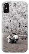 Backgammon At The Ancient Wall IPhone Case