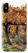 Backlit Autumn Vineyard IPhone Case