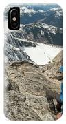 Backpacker Descending Needle Peak IPhone Case