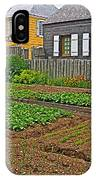 Backyard Garden In Louisbourg Living History Museum-1744-ns IPhone Case
