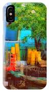 Backyard In Bright Colors IPhone Case