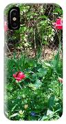 Backyard Tulips IPhone Case