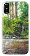 Badger Creek Above The Weir IPhone Case