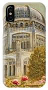 Baha'i  Temple In Wilmette IPhone Case