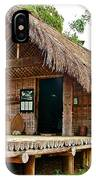 Bahnar Home With Extension As Family Grows At Museum Of Ethnology In Hanoi-vietnam  IPhone Case