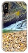 Balanced River Rocks At Birdrock Waterfalls Filtered IPhone Case
