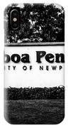 Balboa Peninsula Sign For City Of Newport Beach California IPhone Case