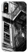 Balcony And Windows Mono IPhone Case