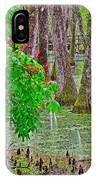 Bald Cypress And Red Buckeye Tree At Mile 122 Of Natchez Trace Parkway-mississippi IPhone Case