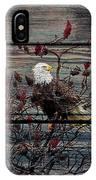 Bald Eagle On Barnwood IPhone Case