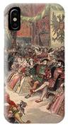 Ball At The Court, Illustration IPhone Case