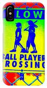 Ball Player Crossing IPhone Case