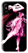 Ballerina Wings Pink Portrait Art IPhone Case