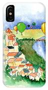 Ballooning In France 2 IPhone Case