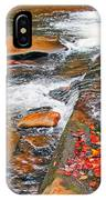 Balsam River Rocks And Leaves IPhone Case