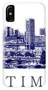 Baltimore Blueprint IPhone Case
