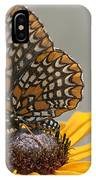Baltimore Checkerspot With Black-eyed Susan IPhone Case