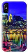 Baltimore Harbor By Night, Baltimore IPhone Case
