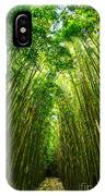 Bamboo Sky - The Magical And Mysterious Bamboo Forest Of Maui. IPhone Case