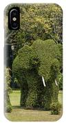 Bang Pa-in Royal Palace Elephant Topiary Dtha0116 IPhone Case