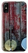 Banjos Against A Barn Door IPhone Case