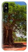 Baobab Tree On Red Soil Road IPhone Case