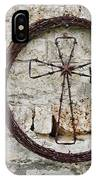 Barbed Wire Cross IPhone Case