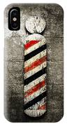 Barber Pole Selective Color IPhone Case