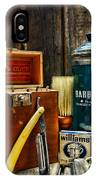Barber - Vintage Barber Tools  IPhone Case