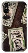Barber - Vintage Gillette Razor Blades IPhone Case